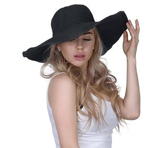 Accessories - NWOT Black Wide Brim Sun hat!